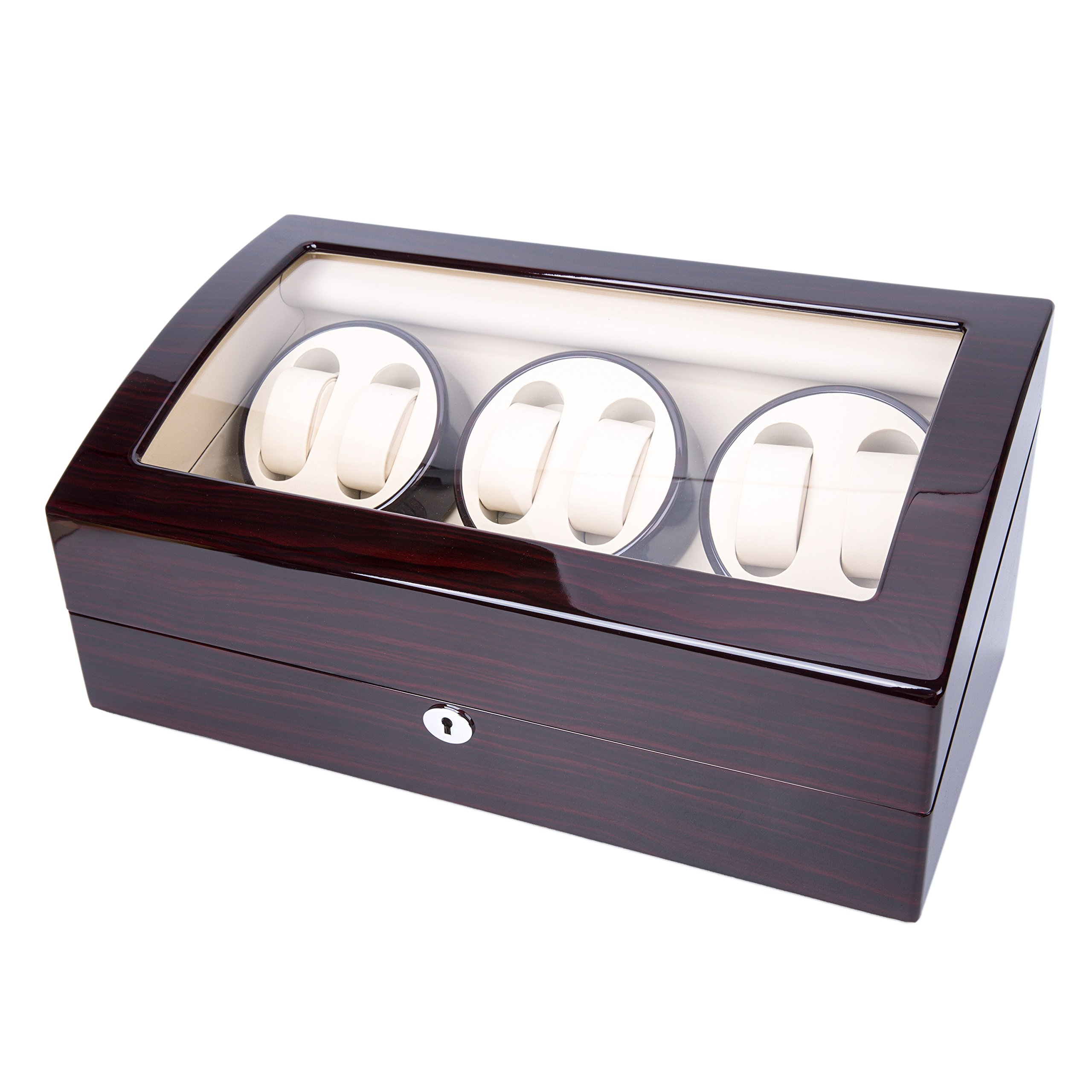 Wood 6+7 Watch Winder Mens Watches Box Storage Display Automatic Rotation Jewelry Case Organizer