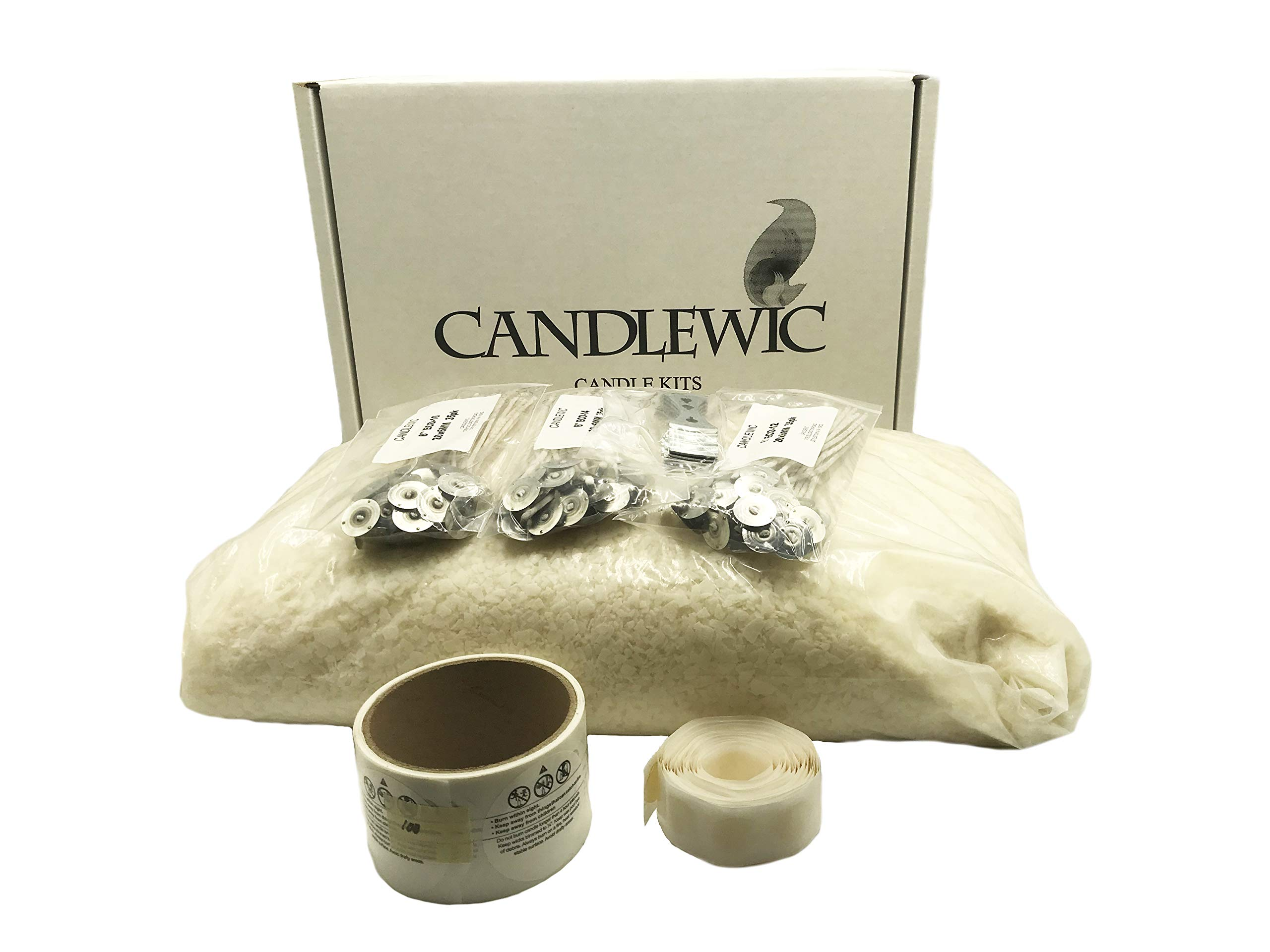 10 lb. Soy Wax, Wicks, Glue Dots and Burning Instructions by Candlewic (Image #1)