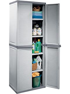 Keter Space Winner Low Storage Cabinet: Amazon.co.uk: Garden ...