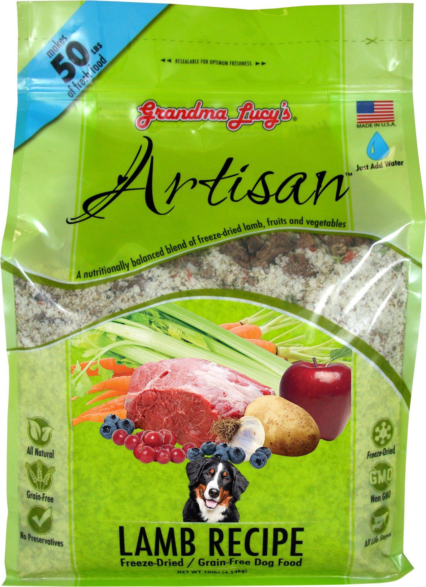 Grandma Lucy's Freeze-Dried Grain-Free Pet Food: Artisan Lamb 10lbs
