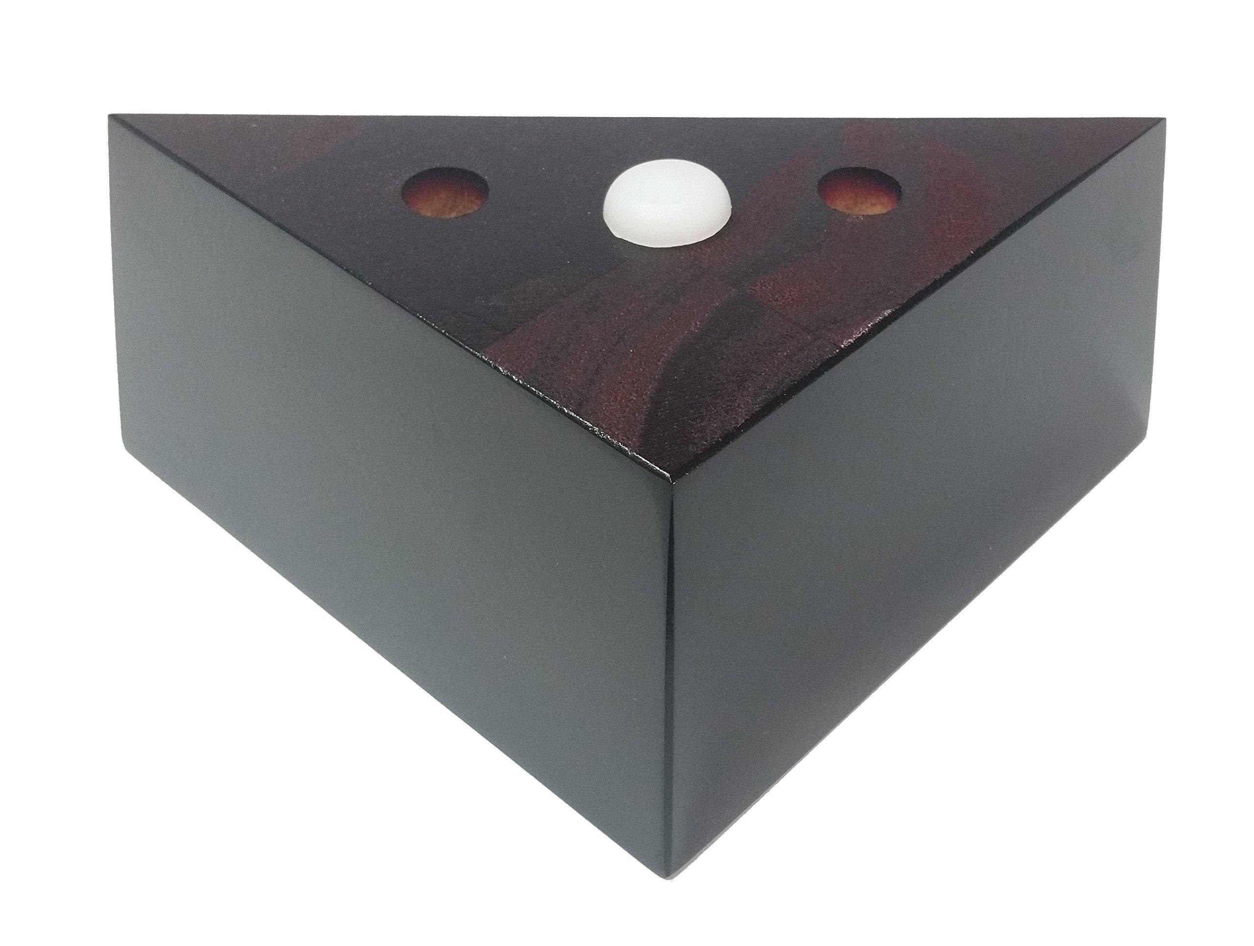 2 1/2'' Espresso Tapered Triangle Sofa Chair Ottoman Furniture Wood Legs - Set of 4