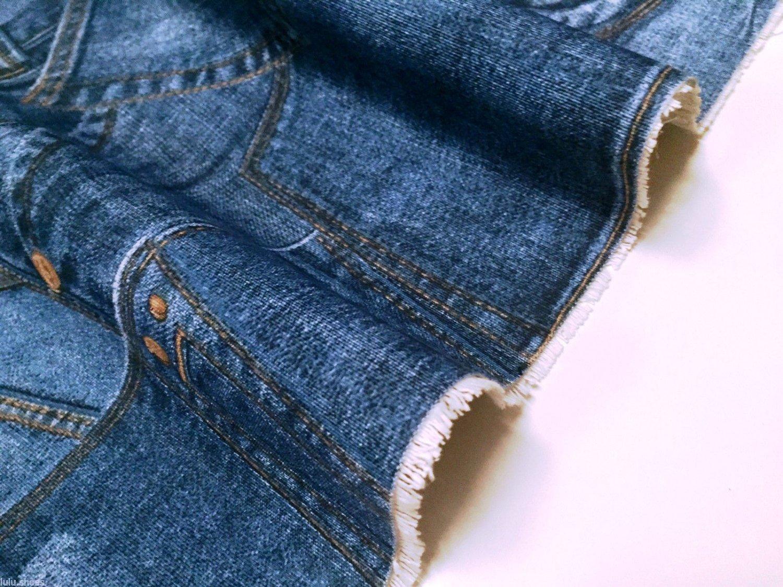 Denim Jeans effetto tappezzeria tenda tessuto di cotone materiale ...