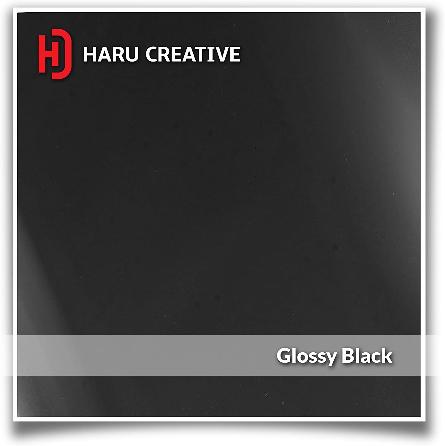 Haru Creative Gloss Black Dashboard Glove Box Letter Insert Overlay Vinyl Decal Compatible with and Fits 2017 2018 Ford Super Duty F250 F350 F450