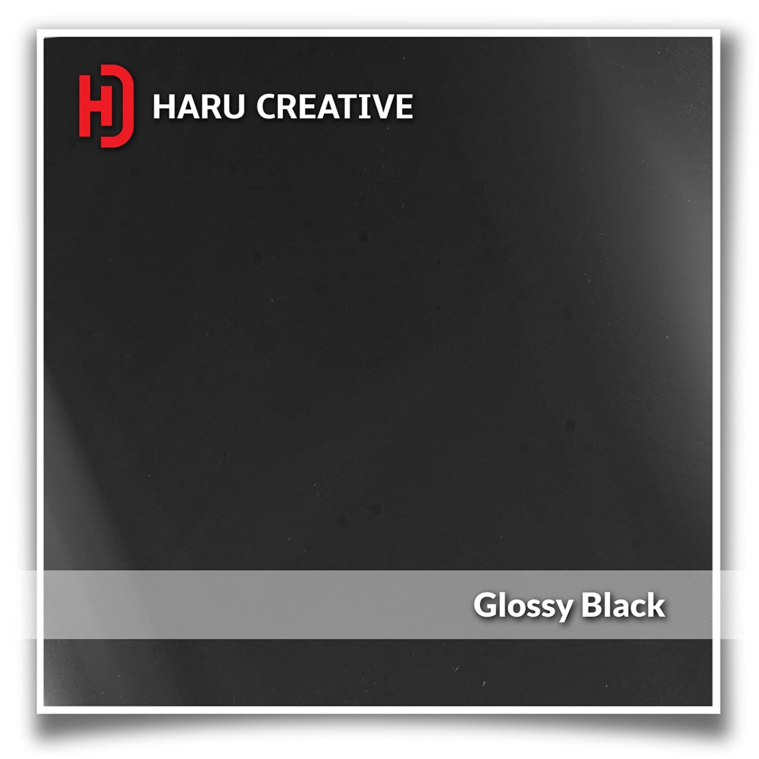 Haru Creative - Gloss Black and White Vinyl Overlay Aftermarket Decal Compatible with and Fits All BMW Emblem Caps for Hood Trunk Wheel Fender Emblem Not Included