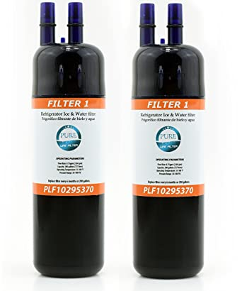 Pure Life Filter 1 Fits Whirlpool W10295370A Refrigerator Replacement Water  Filter Compatible With EDR1RXD1B - 2 Pack