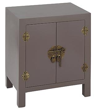 Pacific Home Zen Table de chevet en panneaux MDF avec 2 portes et ...