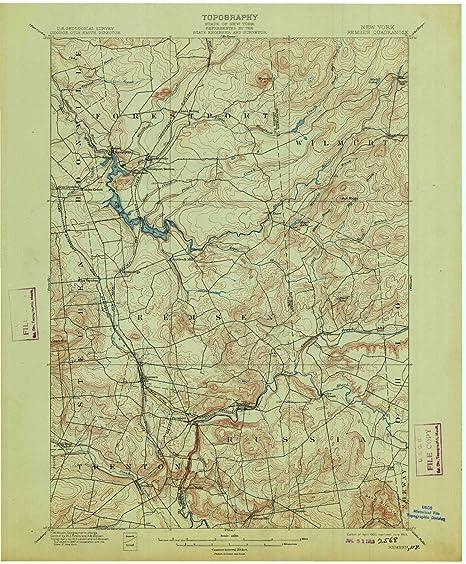 Amazoncom Yellowmaps Remsen Ny Topo Map 162500 Scale 15 X 15