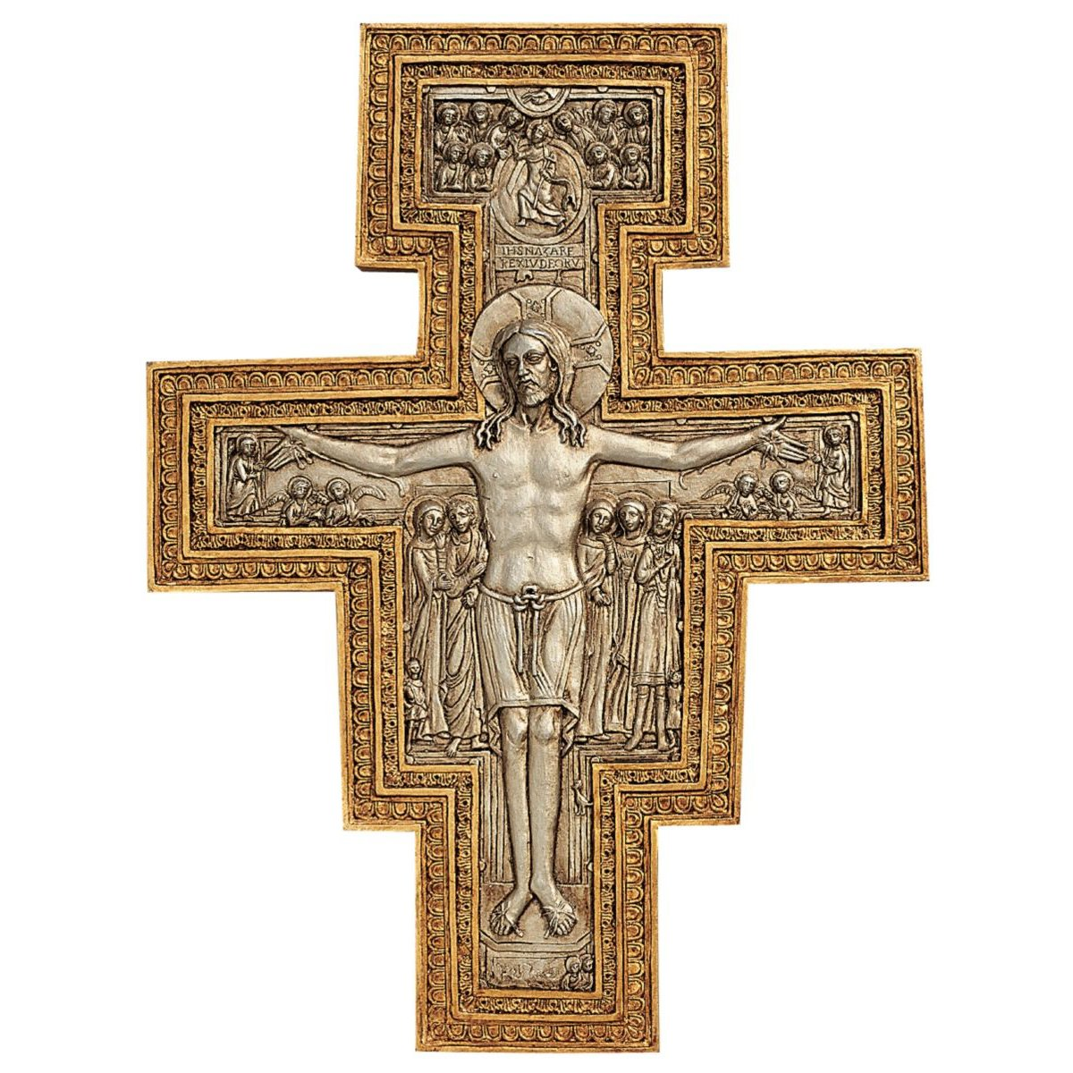 Design Toscano San Damiano Sculptural Wall Cross NG31754