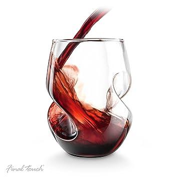 Final Touch Conundrum Verres à vin rouge - 473ml verre soufflé à la main -  Lot 7a505376edbc