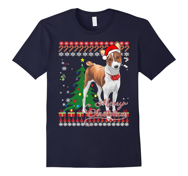 Basenji Ugly Christmas Sweater Shirt-Art