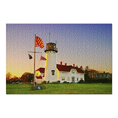 Cape Cod, Massachusetts - Chatham Lighthouse at Sunset 9035628 (Premium 500 Piece Jigsaw Puzzle for Adults, 13x19, Made in USA!): Toys & Games