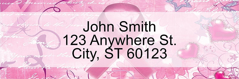 144 Labels Breast Cancer Rectangle Labels