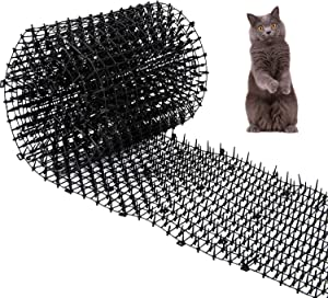 """Cat Scat Mat with Spikes Prickle Strips Anti-Cats Network Digging Stopper Pest Repellent Spike Deterrent Mat, 78""""x11"""""""