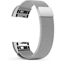 Fitbit Charge 2 Milanese Band Magnetic Strap by House of Quirk Wristbands Straps Mesh Metal Replacement Bracelet