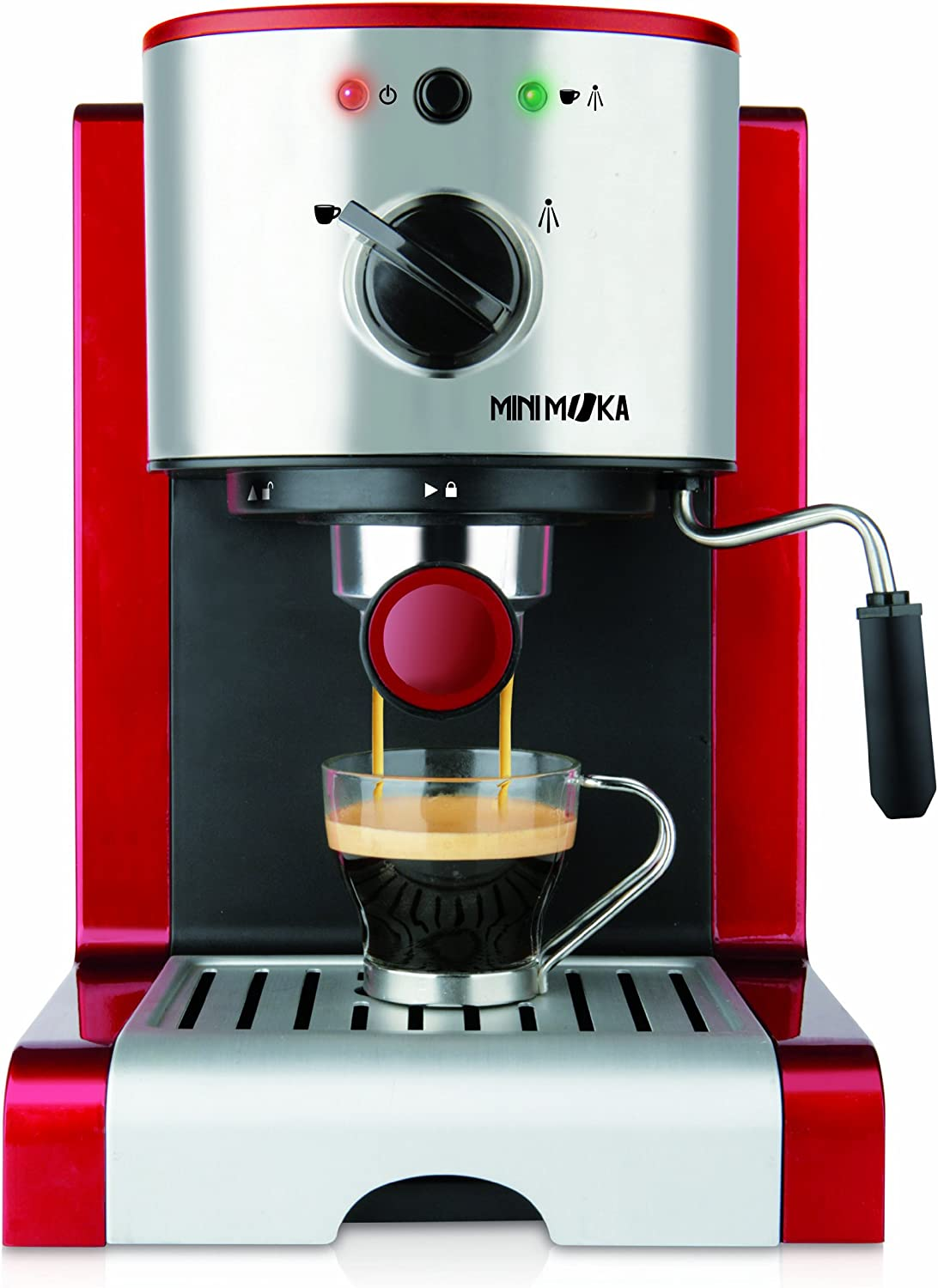 MiniMoka CM-1637 - Cafetera Express, 15 bares, manual: Amazon.es: Hogar
