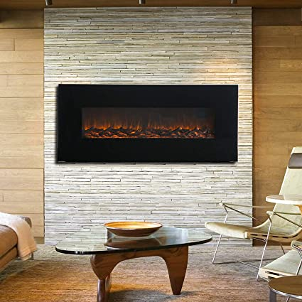Amazoncom Kuppet 50 Wall Mounted Electric Fireplace 1500w