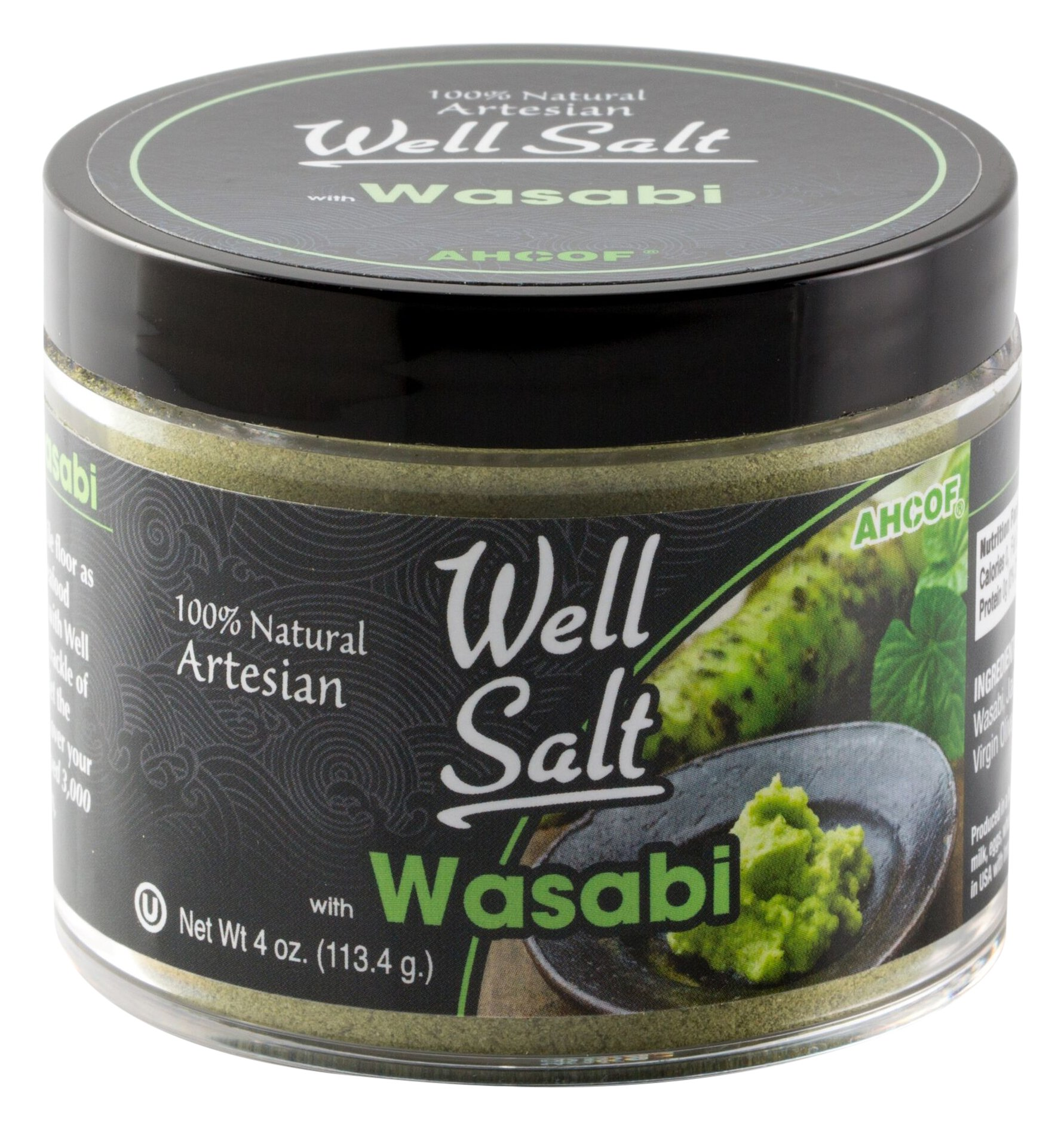 AHCO Foods 100% Natural Artesian Well Salt, Wasabi, 4 Ounce