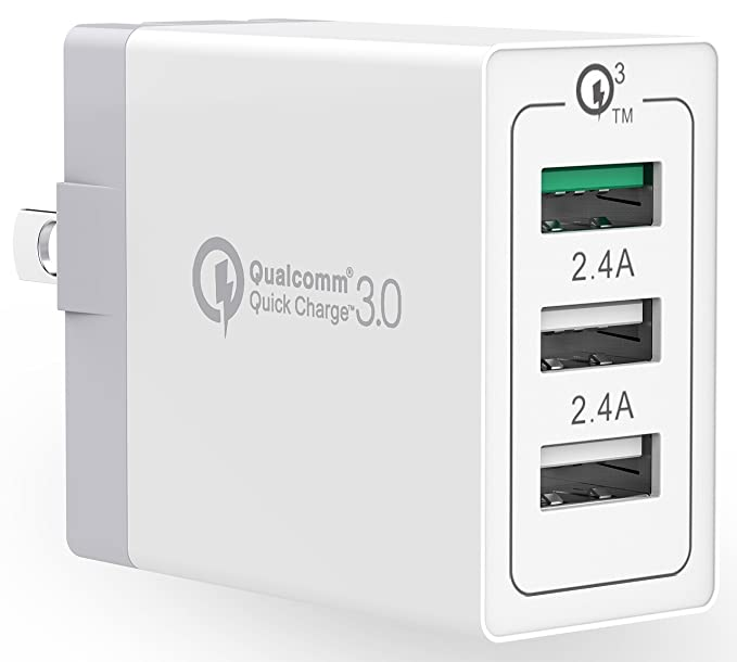 Quick Charge 3.0 Stalion Speedy Turbo 3-Port USB Adaptive Fast Wall Charger [Qualcomm