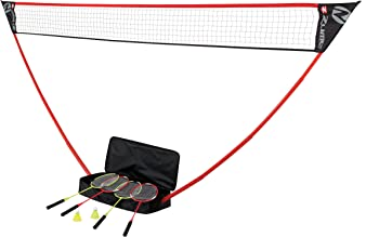 Zume Games Portable Badminton Set with Freestanding Base