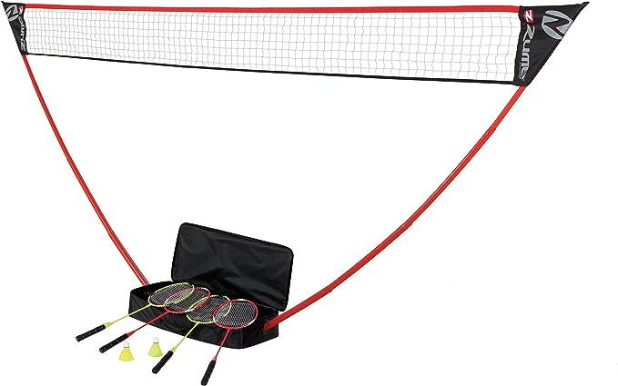 DEYIOU Badminton Set Portable Outdoor Badminton Combo Net System Set Fun Lawn or Beach Game Sets for Family