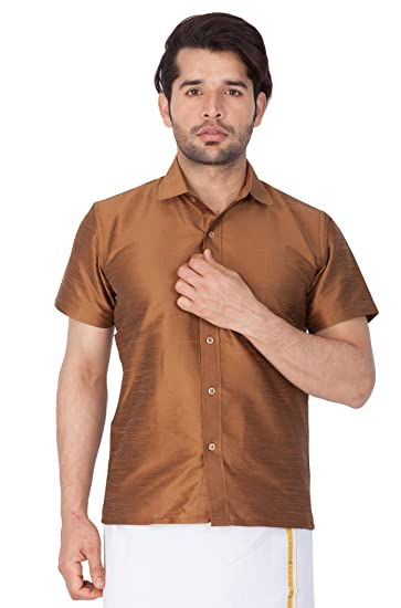 e59c1aa461697 VASTRAMAY Men Cotton Silk Ethnic Shirt(MSH001)  Amazon.in  Clothing ...