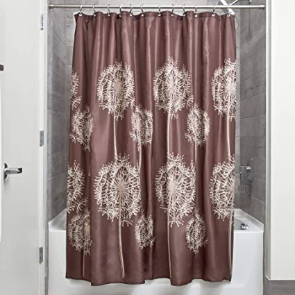 Amazon InterDesign Dandelion Fabric Shower Curtain