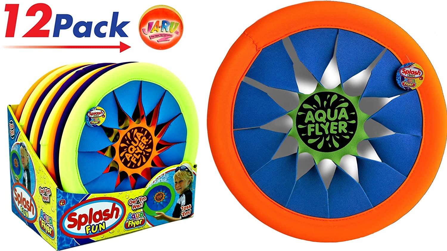 Water Frisbee Flyer by 2 goodshop |ビーチおもちゃプールSoft Flying Disc時間のビーチFun in the Sun 12個パック| Item # 1031 B0799QNYMN