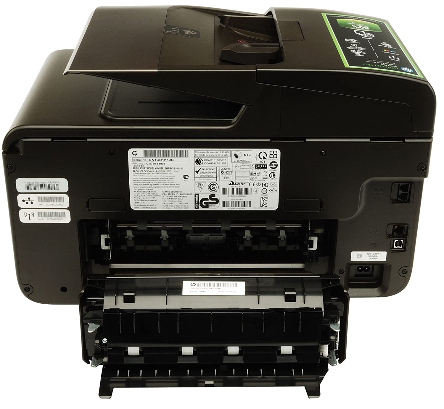 Amazon.com: HP Officejet Pro 8600 Plus e-All-in-One Printer (Discontinued  by Manufacturer): Electronics