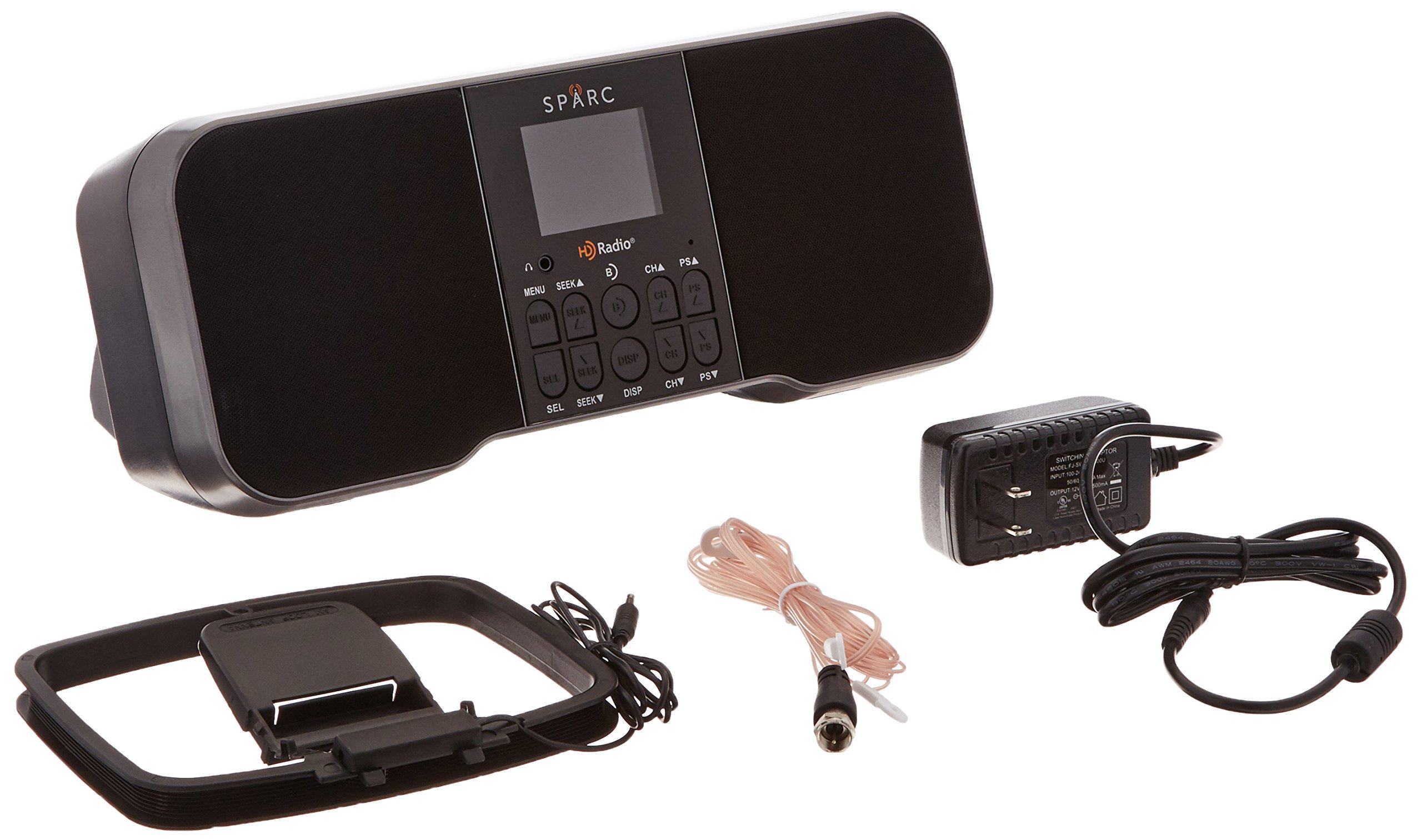 SPARC HD Radio H159SHD-T86000150  Table Top AM/FM Radio with Alarm