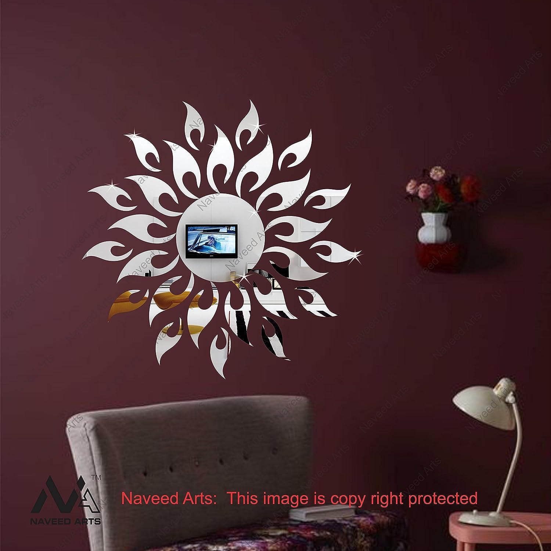 Buy Naveed Arts 61 cm x 61 cm Sun Silver Acrylic Mirror Decor