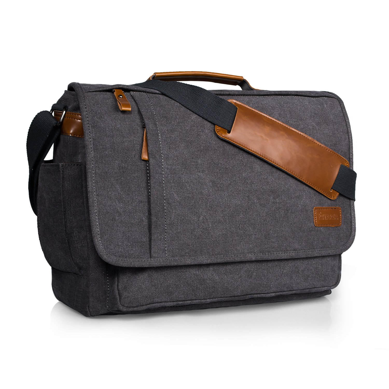 Estarer Laptop Messenger Bag 17-17.3 Inch Water-Resistance Canvas Shoulder Bag for Work College by Estarer (Image #1)