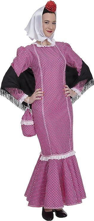 Disfraz de Madrileña Chulapa Rosa (Talla XL): Amazon.es: Juguetes ...