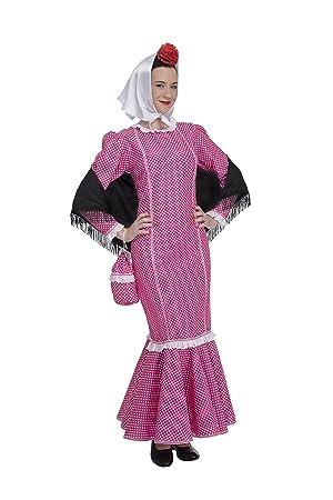 Disfraz de Madrileña Chulapa Rosa (Talla M/L)