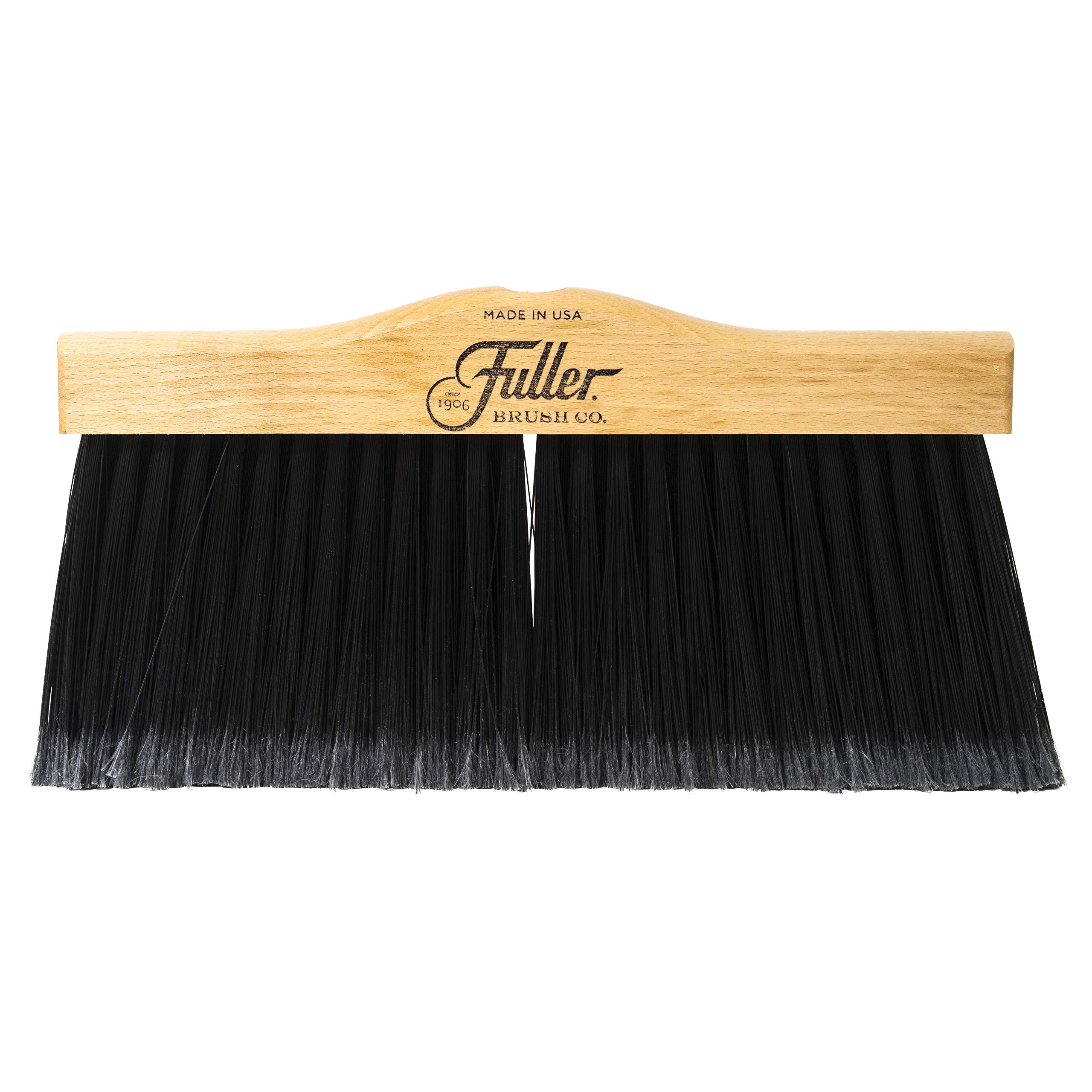 Fuller Brush Indoor/Outdoor Broom Head - Heavy Duty Wide Wooden Sweeper w/Long Bristles - Commercial Floor Brush for Salon, Shop, Kitchen & Garage - 12-inch Wide by Fuller Brush