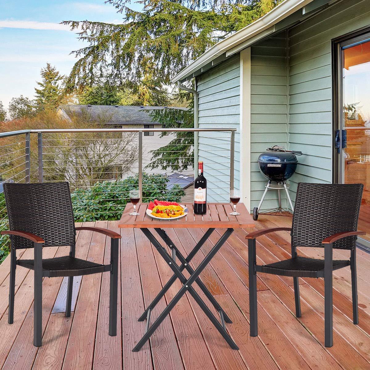Amazon.com: Jur_Global - 2 sillas de comedor apilables de ...