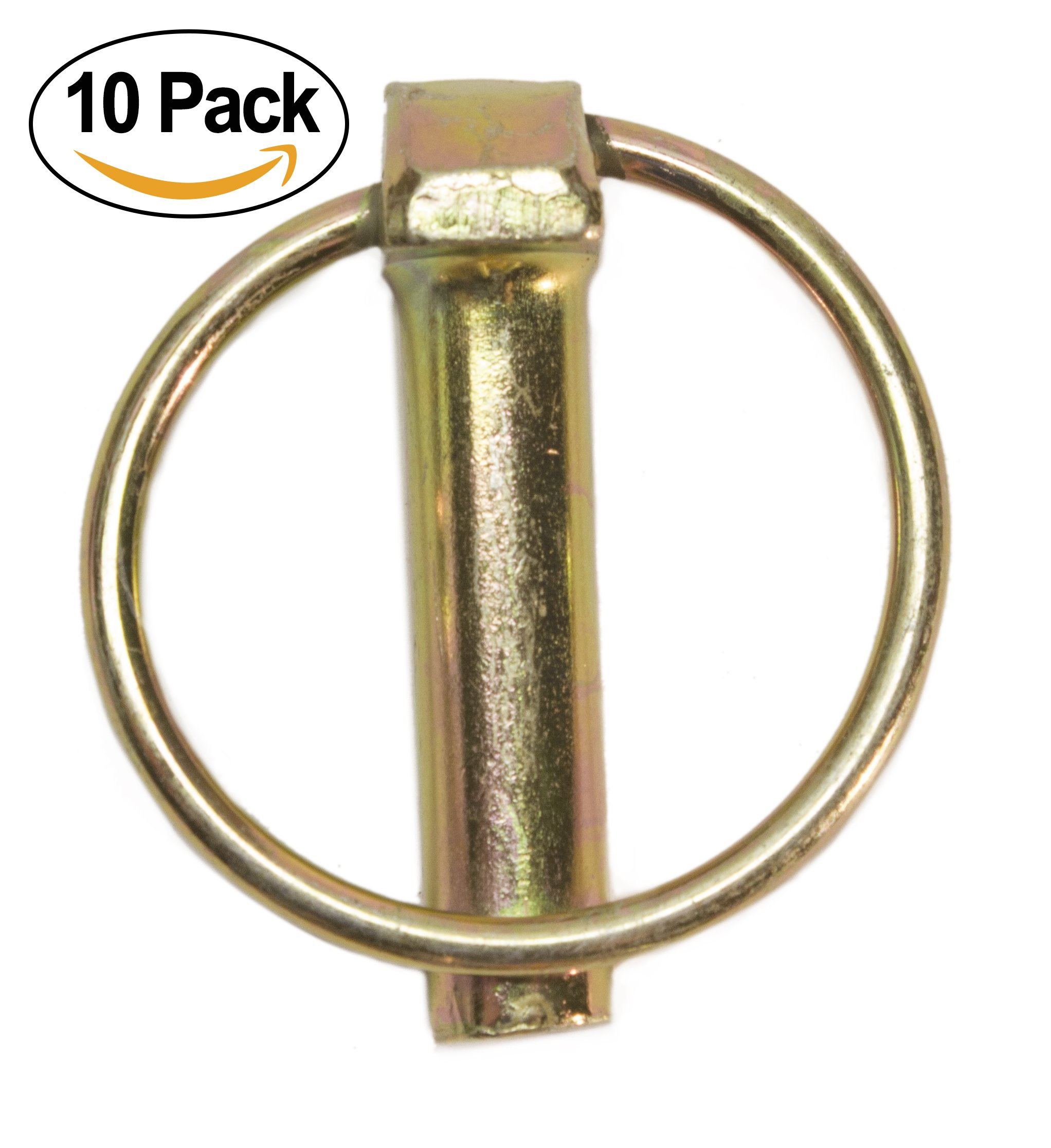 Linch Pin with Ring 7/16'' x 1-3/4 Inch (Pack of 10)