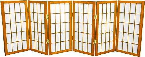 Oriental Furniture 2 ft. Tall Desktop Window Pane Shoji Screen