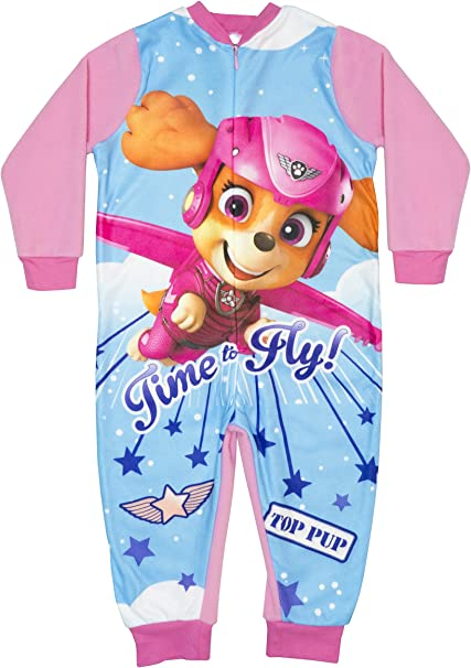Paw Patrol Skye Everest Chase Pink Pyjama All In One Micro Fleece  Age 2 3 4 5