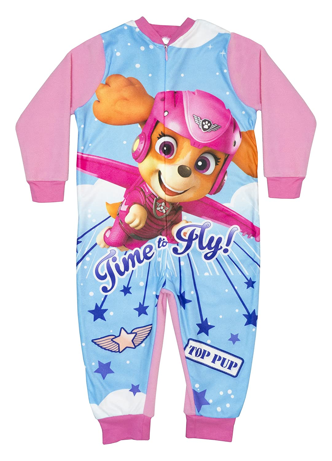 Girls Nickleodeon Paw Patrol Skye Everest Fleece Onesie 18 Months - 6 Years