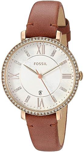 988724c2b039 Fossil Reloj Analógico para Mujer de Cuarzo con Correa en Cuero ES4413