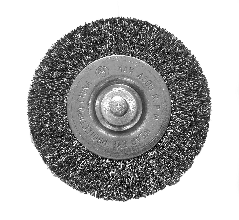 "Wire Wheels 3/"" Fine Mounted Crimped Steel Metal"