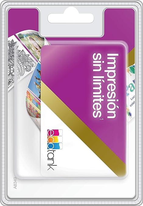 Epson EcoTank Tarjeta Unlimited | Tinta Ilimitada Durante 2 Años ...