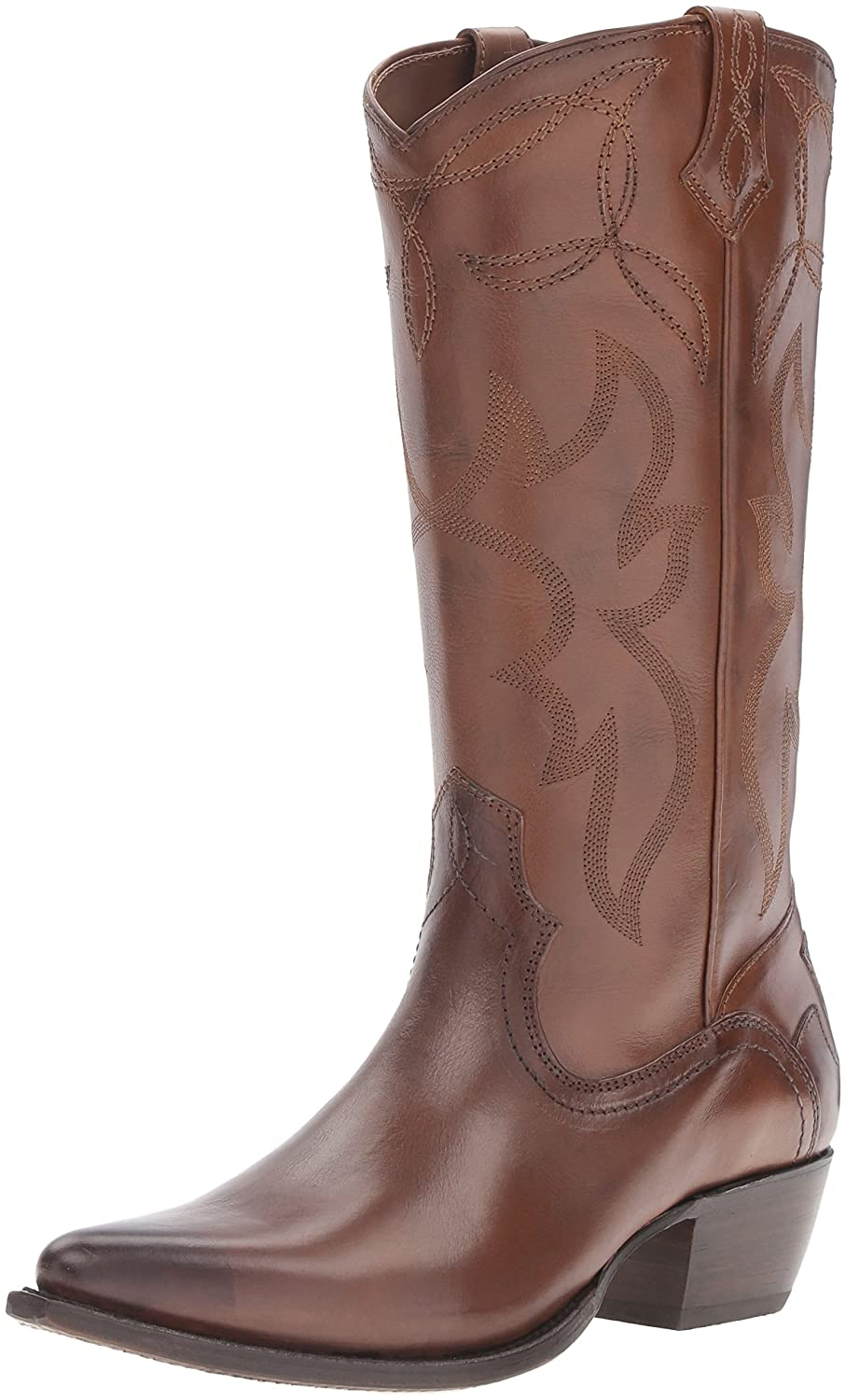 FRYE Women's Shane Embroidered Tall Western Boot B01BMRWU84 6 B(M) US|Whiskey