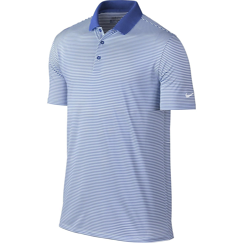 ナイキ ゴルフ DRI-FIT ヴィクトリー ミニ ストライプ 半袖ポロシャツ B013WTZZ1E Large|Game Royal/White/White Game Royal/White/White Large