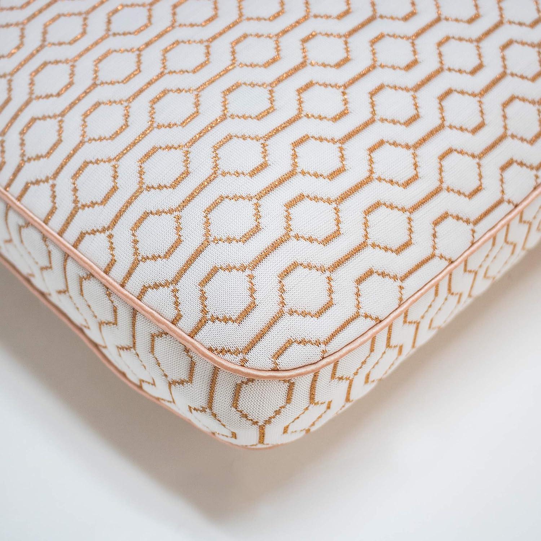 SensorPEDIC Classic Gusset Copper Infused Bed Memory Foam Pillow Standard White