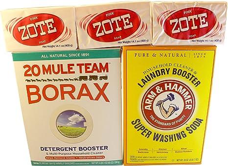Amazon.com: Lavandería Jabón Kit – ROSA Zote, Borax & ...