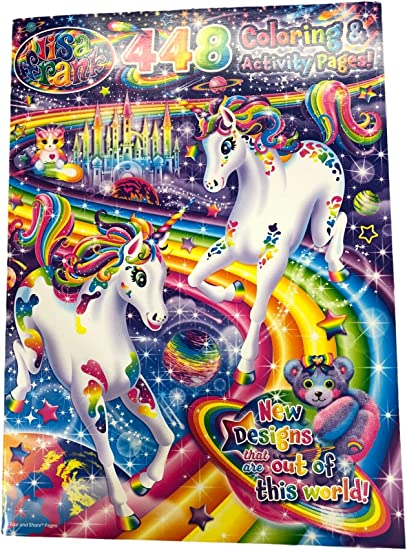 Amazon.com: Coloring Book - Lisa Frank - Coloring And Activity Pages -  448p: Toys & Games