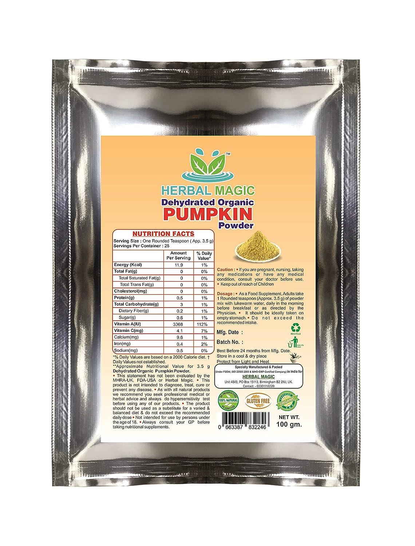 Herbal Magic's Pure & Natural Pumpkin Powder   - 100g - ISO