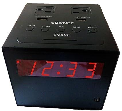 amazon com sonnet r 1414 charging station clock radio home audio rh amazon com