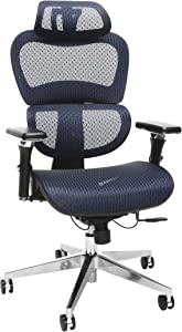 OFM Model 540-BLU Core Collection Ergo Mesh Office Chair with Head Rest for Computer Desk, Blue